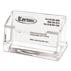 Kantek - KTKAD30 - Kantek Clear Acrylic Business Card Holder (Each)