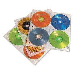 Case Logic - CLGCDP200 - 8-Capacity CD/DVD Double-Sided Sleeve Refill, Clear, 25 PK