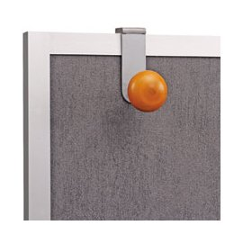 Alba - ABAPM2PARTBO - Cubicle Garment Hook, Over Panel, 2 Hook