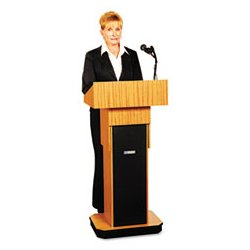 AmpliVox - APLS505AMO - AmpliVox Executive Adjustable Sound Column Lectern (Each)