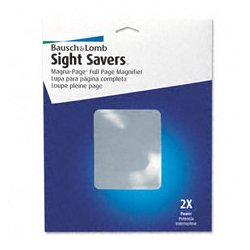 Bausch & Lomb - BAL819007 - Magna-Page Full-Page Magnifier, Bausch & Lomb Full-Page Magnifier, with Acrylic Lens (Each)