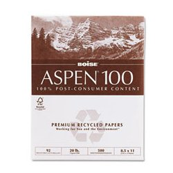 Boise Cascade - CAS054922 - 8-1/2 x 11 Recycled Multipurpose Paper with Matte Finish, White; PK5000