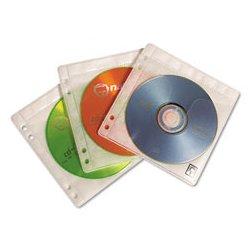 Case Logic - CLGPSR100 - 2-Capacity CD/DVD Double-Sided Sleeve Refill, Clear, 50 PK