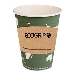 Eco-Products - ECOEG2000 - Eco-Products EcoGrip Renewable Resource Compostable and Recyclable Hot Cup Sleeve (Carton of 1, 300)