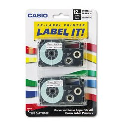 Casio - XR24WE - Casio Tape Cassette for KL Label Makers (Each)
