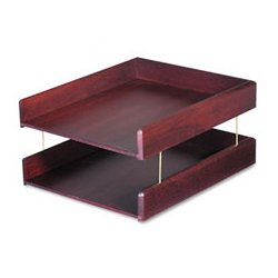 Carver Wood Products - CVR02213 - Carver Hardwood Double Desk Tray (Each)