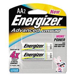 Energizer - EVEEA91BP2 - Energizer Advanced Lithium Batteries (Pack of 2)