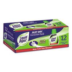 Liquid Paper - PAP5640115 - Liquid Paper Fast Dry Correction Fluid (Dozen)