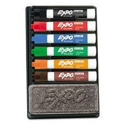 EXPO - SAN80556 - EXPO Low-Odor Dry Erase Marker and Organizer Kit (Kit of 6)
