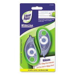 Liquid Paper - PAP1750281 - Liquid Paper WideLine Correction Tape (Each)