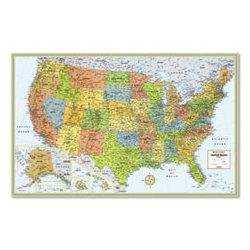 Rand McNally - AVTRM528959999 - Rand McNally M-Series Deluxe Wall Maps (Each)