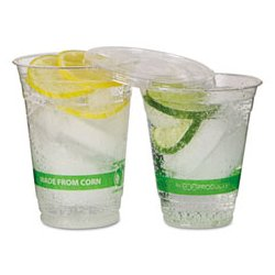 Eco-Products - ECOEPCC9SGSPK - Eco-Products GreenStripe Renewable Resource Compostable Cold Drink Cups (Pack of 50)
