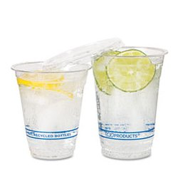 Eco-Products - ECOEPCR12PK - Eco-Products Recycled Content Clear Plastic Cold Drink Cups (Pack of 50)
