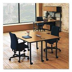 HON - MPOSTCS - HON Huddle Tabletop Post-leg Base - Charcoal
