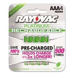 Rayovac - RAYPL7154 - Rayovac Platinum Rechargeable NiMH Batteries (Each)