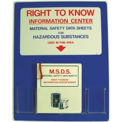 National Marker - Rtk - Right To Know Infoctr 30x24. (each)