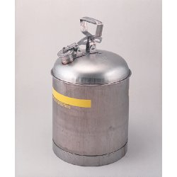Eagle Mfg - 1313 - Safety Can Type 1 Stainless Steel 2.5 Gal Eagle Mfg. Co. 11.25 In Outside Diameter 9.625 In H, Ea