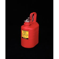 Eagle Mfg - 1511 - Safety Can Type I Oval High Density Polyethylene 1 Gal Red Eagle Mfg Co. 12.25 In Hx4.625 In Wx7.625 In L, Ea