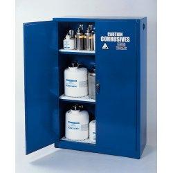 Eagle Mfg - CRA-30 - Acid Cabinet Sliding 30 Gal Blue Steel 44x43x18 1 Shelf Eagle Mfg Co., Ea