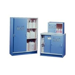 Justrite - 24140 - Acid Cabinet Sliding Door 100 Liter Light Blue Poly Laminate 36X36X22 1 Shelf Justrite Mfg Co., EA
