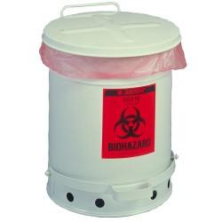 Justrite - 05910 - 6-gallon White Biohazardwaste Conta
