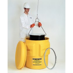 Eagle Mfg - 1601M - Eagle 30 Gallon Yellow HDPE Open Head Containment Labpack With Metal Lever-Lock Ring, ( Each )