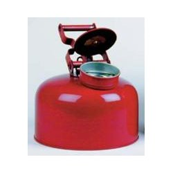 Eagle Mfg - 1423 - Disposal Safety Can 2.5 Gal Galvanized Steel Red Eagle Mfg Co. 11.25 In Outside Diameter 12 In H, Ea