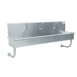 Advance Tabco - 19-18-48 - Multi-wash Hand Sink Advance Tabco 304 Stainless Steel 12 In Wx48 In Lx17 1/2 In D, Ea