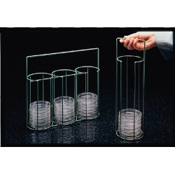 Bel-Art - 189790000 - Poxygrid, Rack, Wire, Petri Dish, Carrying