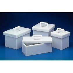 """Bel-Art - 249600001 - BOX, HDPE, LEAD LINED, STORAGE, 6""""X6""""X8"""""""
