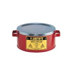 "Justrite - 10376 - Justrite 10376 Drip Can, One gallon capacity. Measures 4-1/2"" H x 9-3/8"" OD"