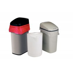 Bel-Art - 132020010 - SCIENCEWARE Touch Free Automatic Waste Cans Plastic, White (Each)