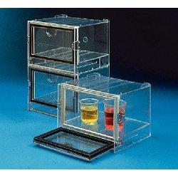 Bel-Art - 420530000 - Bel-Art 42053-0000 Stackable desiccator; Polystyrene; exterior dimensions, 8 1/4'W x 5'H x 7'D