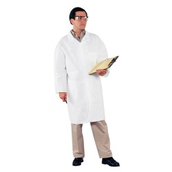 Kimberly-Clark - 44442 - Kimberly-Clark Professional* Medium White KleenGuard* A40 Microporous Film Laminate Disposable Liquid And Particle Lab Coat/Lab Jacket