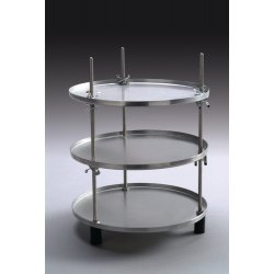 Labconco - 7442100 - Product Shelf; Includes (3)Stainless Steel Support Rods, (9)Stainless Steel Adjustable Clips for She