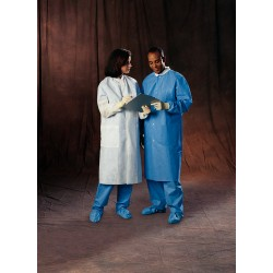 Kimberly-Clark - 10032-CASEOF25 - LAB COAT BLUE LG CS25 (Case of 25)
