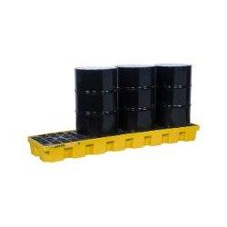 Justrite - 28630 - Drum Spill Cntnmnt Pallet, 4 Drum, 5k lb.