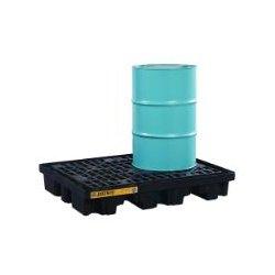 Justrite - 28672 - Drum Spill Cntnmnt Pallet, 2 Drum, 2.5k lb