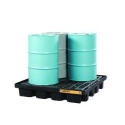 Justrite - 28673 - Drum Spill Cntnmnt Pallet, 4 Drum, 5k lb.