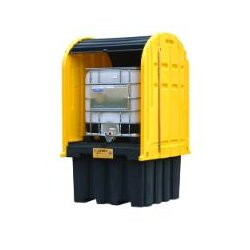 Justrite - 28677 - Covered IBC Containment Unit, 9000 lb. Load Capacity, 372 gal. Spill Capacity