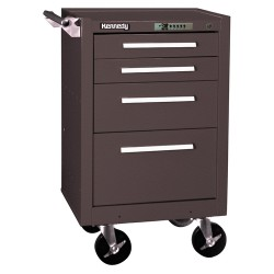 "Kennedy - 21040B - Brown Rolling Cabinet, Industrial, Width: 20-1/2"", Depth: 18"", Height: 34"""
