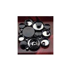 Berlin Packaging - CAP-00122 - Black Phenolic Screw Caps, Pulp/Tinfoil Liner, Qorpak (Case of 11, 000)