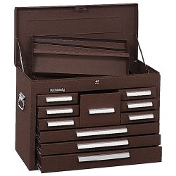 "Kennedy - 2812B - Brown Top Chest, 28-5/8"" Width x 12-1/8"" Depth x 18-7/8"" Height, Number of Drawers: 12"