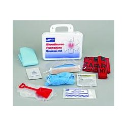 Honeywell - 019746-0032L - Bloodborne Pathogen Kit, Plastic Case, White, 1 EA