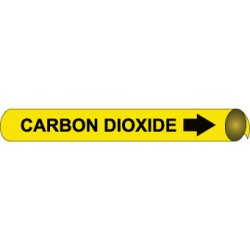 National Marker - A4011-each - Pipemarker Co2 B/y Fits 3/4-1in (each)