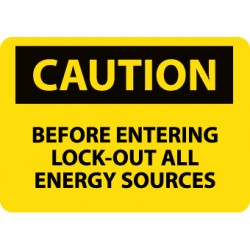National Marker - C120p - Sign Lockout All Energy Source. (each)
