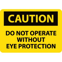 National Marker - C138P - SIGN EYE PROTECTION 7X10. (Each)