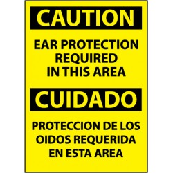 National Marker - ESC26RB - NMC Spanish and Bilingual Personal Protection (PPE) OSHA Caution Signs (Each)