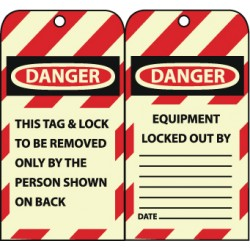 National Marker - Gltag1 - Sign Glw In The Dark Lock Pk10. (pack Of 10)