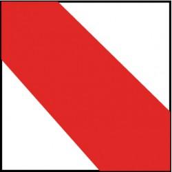 National Marker - T22318 - NMC 3 X 18 Red/White Hazard Stripe Safety Tape, ( Roll )